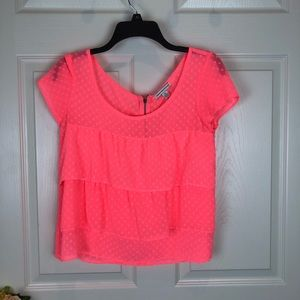 American Eagle Outfitters neon blouse size small